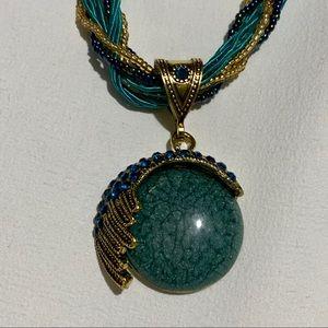 Jewelry - Bohemian Style Cat's Eye Rhinestone Necklace
